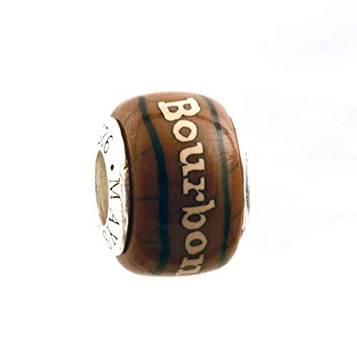 (Bourbon Bead for Add-A-Bead Bracelets Clay & Sterling Silver by MAYselect)