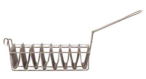 "Browne (TB8M) 12"" x 6 ½"" Chrome-Plated Taco Basket"