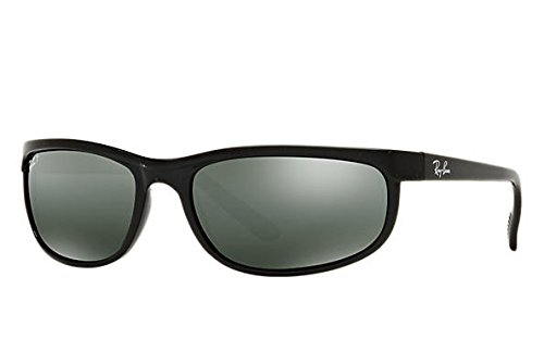 Ray-Ban Predator 2 Sunglasses Rb2027 601/W1 Black Crystal Mirror Gray (Predator Sunglasses Wrap)