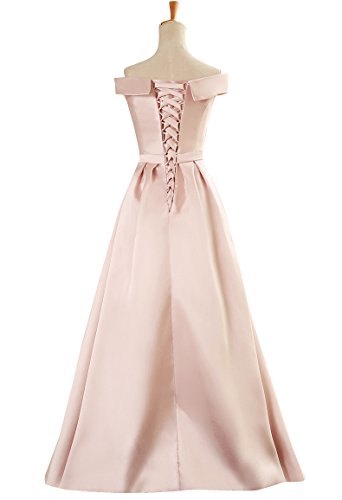 Emily laurea Pieghe spalline Abiti Beauty Up Lace Satin senza Rosa Hxw6n4qvd