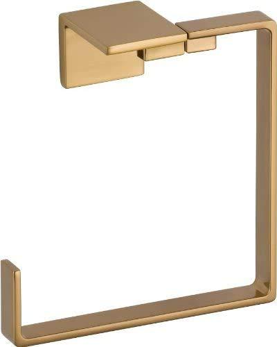 DELTA FAUCET Bathroom Accessories 77746-CZ Vero Bathroom Hand Towel Ring, Champagne Bronze