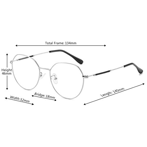 Optiques Argent Unisexe Fulision Monture De Métal Vintage Rondes Lunettes En w1Hw0qU