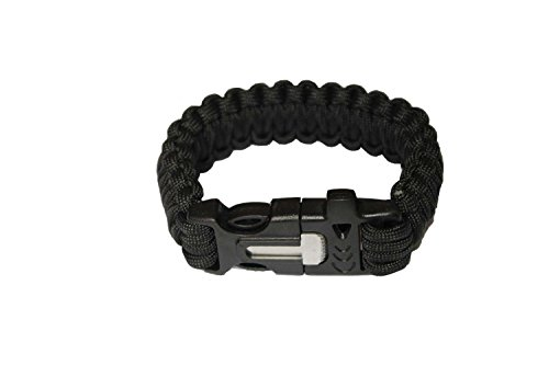 OmeGod-Outdoor-Survival-Paracord-Rope-Bracelet-with-Magnesia-Fire-Starter-Stainless-Scraper-and-Whistle-7-Strand-Parachute-Cord