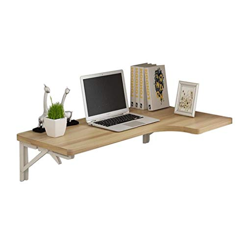 Laptop Desk Wall-Mounted Drop-Leaf Table Computer Desk Kitchen Dining Table Wall Integrated Desk Office Computer Workstation ()