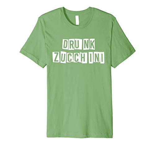 Mens Drunk Zucchini Simple Easy Halloween Costume Bar Party Drink Premium T-Shirt -