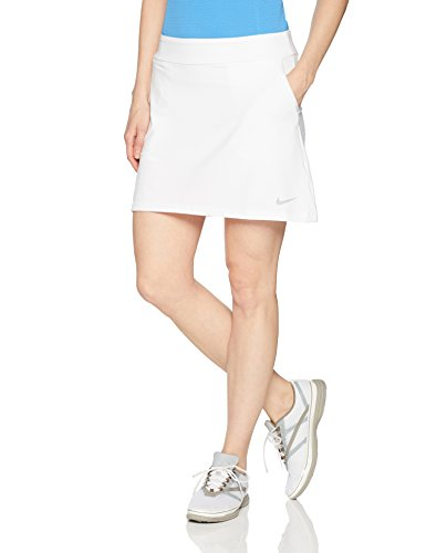 NIKE Women's Dry Golf Skort, White/Flat Silver, Large