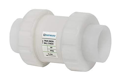 Hayward TC30050S Series TC True Union Ball Check Valve, Socket Fusion End, PP with FPM Seals, 1/2