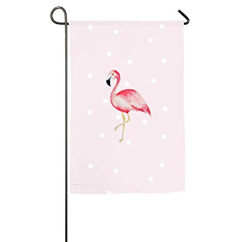LMHB Festa Flamingo Floral Garden Yard Flag Banner-Best for Party and Decor -