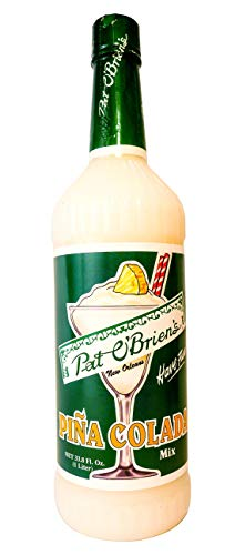 Pat O'Brien's Pina Colada Mix, 1 Liter, Easy Preparation, Perfect Drink for Luau Party, 33 Servings