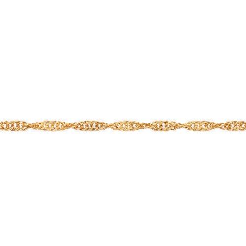 So Chic Bijoux © Chaîne de Cheville Femme 25 cm - Or Jaune 375/000 (9 carats) 1,10gr - Maille Singapour