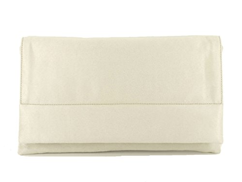 Ivory Clutch Bag LONI LONI Shoulder Suede Glam Glam Faux UXwOF8q