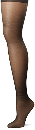 Hanes Silk Reflections Plus Enhanced Toe Sheer Pantyhose, Jet, 2P