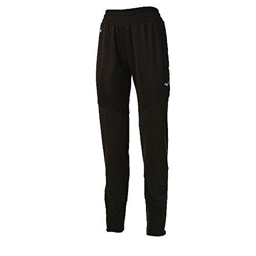 Mizuno Running Womens Breath Thermo Windproof Pant, Black/Charcoal, -