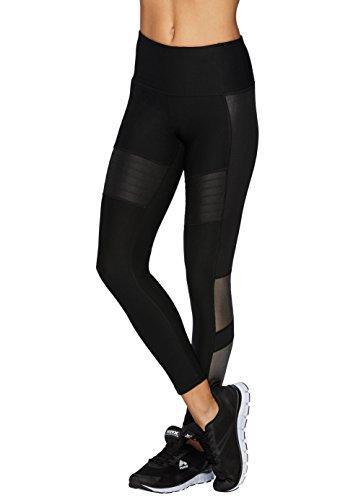 RBX Active Women's Mesh Moto Workout Leggings Black XL
