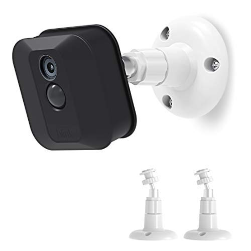 Blink Camera Wall Mount Bracket, Blink Home Security Camera System Aaccessories,360 Degree Protective Adjustable Mount for Blink Outdoor/Indoor Cameras (2 Pack, White)