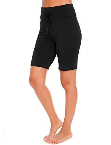 Fanala Women Solid Stretch Board Shorts Sport Swimwear Beach Short - Women's Bermuda Swim Shorts