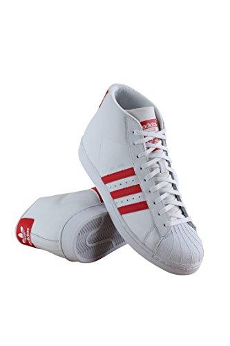 Adidas Originaler Menns Pro Modell-m Fashion Joggesko Hvit / Rød