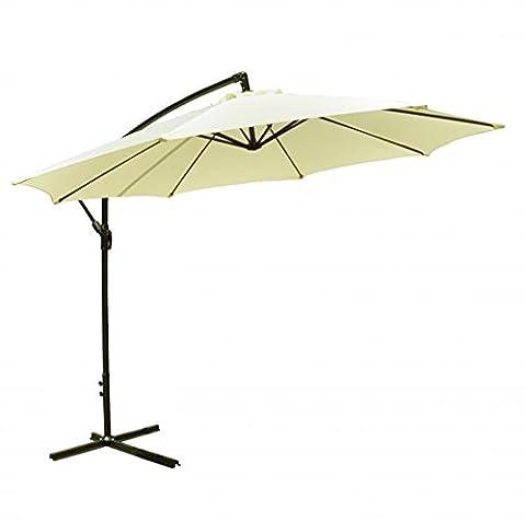 Patio Umbrella Sun Shade Offset Hanging Outdoor Beige 10'