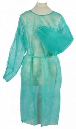 Vellón Bata desechables Bata verde aprox. 110 x 140 cm - Bata vez Bata 10 unidades Easy estándar de Visitantes Bata Original Tiga Med: Amazon.es: Salud y ...