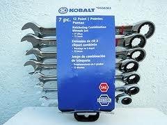 KOBALT 7 Piece、12ポイント、72-tooth SAE Ratcheting組み合わせレンチセット( # 0338361 ) by Kobalt B01N6UO3TE