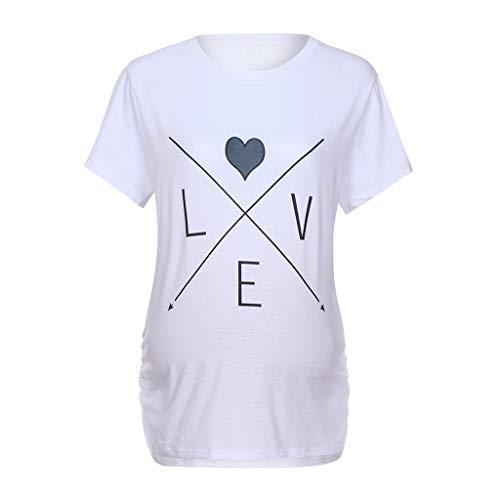 a2a9cc0bf2a53 Pregnancy Shirts for Women Announcement,Women Maternity Short Sleeve Letter  Arrow Print Tops T-