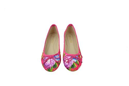 chaussures les sur de Ballerines Confort plates motif Mesdames fleurs tzxPqwXtI