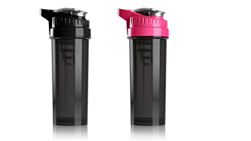 Cyclone Cup Blender Shaker Bottle: 32 Ounce Shake Mixer Bottles for Protein Shakes a Protein Shaker Bottle, Shake Mixer Bottle – Mixer Cup Set of 2 Black and Pink Review