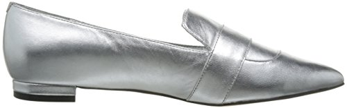 Patent Metallic Pointed West Nine Flat Silver Women's Toe Allen qTtwFwA