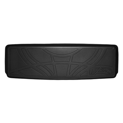 MAX LINER E0153 All Weather Custom Fit Cargo Trunk Liner Floor Mat Behind 3rd Row Black for 2015-2019 - Tahoe Chevrolet Mat Cargo