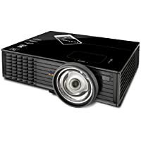 ViewSonic PJD6683WS WXGA 1280x800 DLP Projector, 3000 ANSI Lumens, 15,000:1 Contrast Ratio - Black
