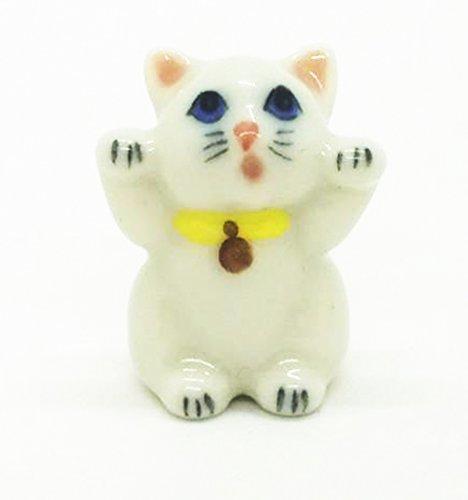 - WitnyStore Siamese Cat Ceramic Lovely Pet Miniature Figurine Handmade Collectible Decor