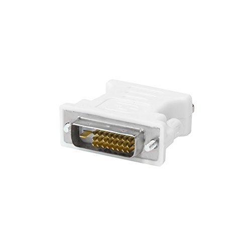 Kingwin DVI-D 24+1 Male to VGA HD 15 Female Adapter for HDTV, Gaming, Projector, DVD, Laptop, PC, Computers.  Convert VGA/SVGA Monitors to DVI, and Supports Hot Plugging of DVI Display Devices - Flat Panel Monitors Gaming