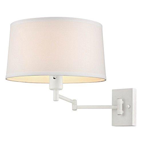 White Swing Arm Wall Lamp - 4