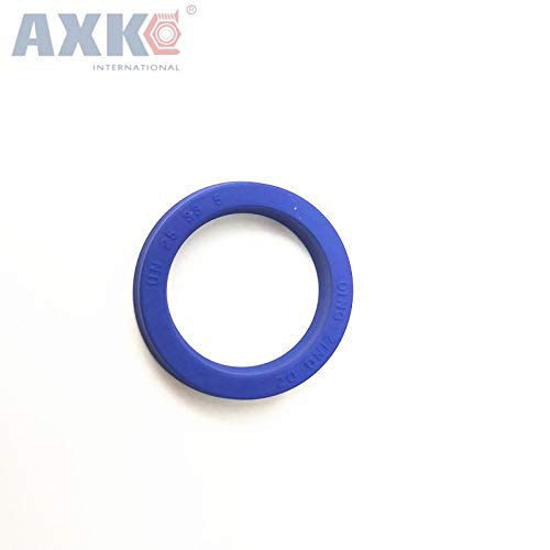 Gimax U Cup Single Lip UNS Seal ID = 25 mm Hydraulic Cylinder Piston and Rod Seal U Ring Polyurethane (PU) Rubber Buffer Ring - (Size: 25x45x10)
