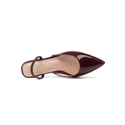 Compensées ASL05074 BalaMasa Bordeaux Sandales Femme EYSSWqT