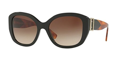 Burberry Women's 0BE4248 Black/Gradient Brown One - Brand Sunglasses Top Name