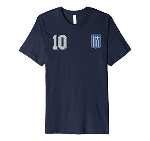 Greece or Hellas in Football or Soccer Style Premium T-Shirt