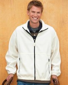 Sierra Pacific 3061 Adult Poly Fleece Full Zip Jacket - Winter White - 'L