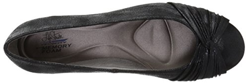 Lifestride Womens Finta Balletto Nero / Metallizzato
