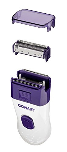 Conair Satiny Smooth Ladies Dual Foil Rechargeable Shaver with pop-up Trimmer; Use Wet or Dry