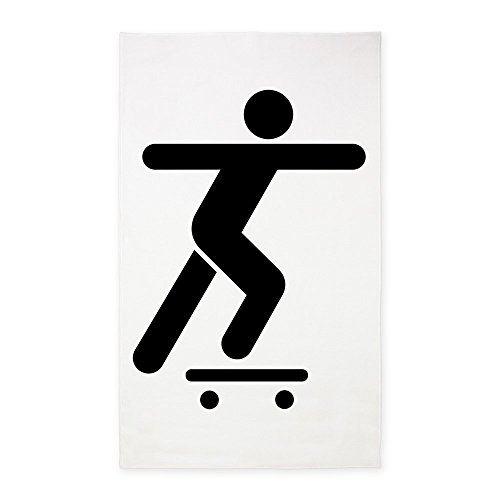 Surf Rug Longboard (2' x 3' Area Rug Door Mat Skateboard Skater Traffic Symbol)