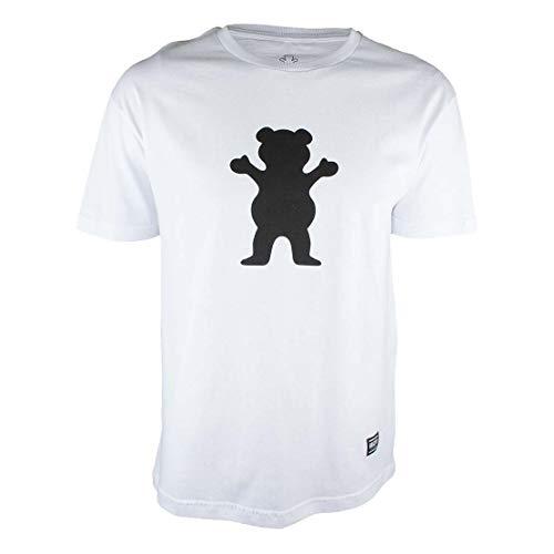 Camiseta Grizzly Og Bear Logo - Branco-Gg