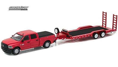 Greenlight 1/64 Hitch & Tow Series 9-2016 Dodge Ram 2500 and Heavy Duty Car Trailer 1:64 Scale Die-Cast Vehicle