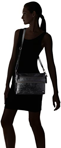 Zip Crossbody Lanie 3 Sak Black The Leaf 8wtRfqx