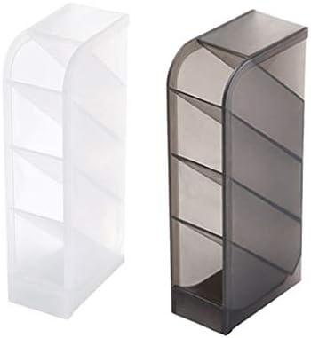 FishSmooth Schreibtisch-Aufbewahrungsbox, Make-up-Pinsel-Set für Schreibtisch-Schreibwarenregale Multifunktionales, gefrostetes, schräges Aufbewahrungsfass, 2 Stück - 1 Stück Weiß 1 Stück Schwarz