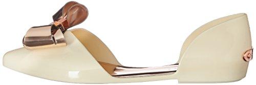 Flat Women''s Ballet Ted Cream Baker rose 915932 Gold wHqnzg4I