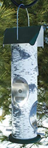 LOG2T Birch Log Design Bird Feeder for Thistle Seed