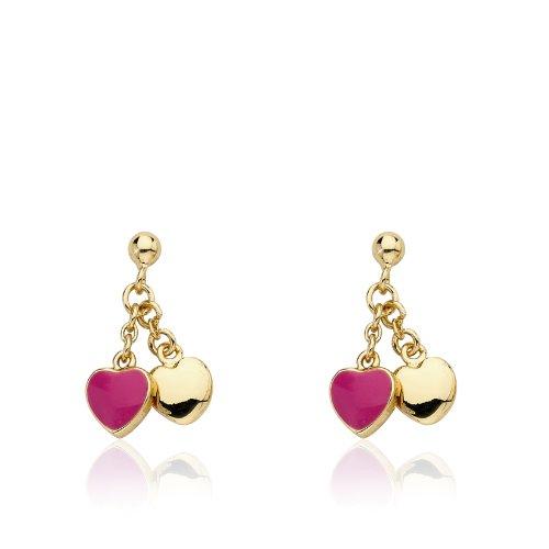 Little Miss Twin Stars 14k Gold-Plated Double Dangle Earring