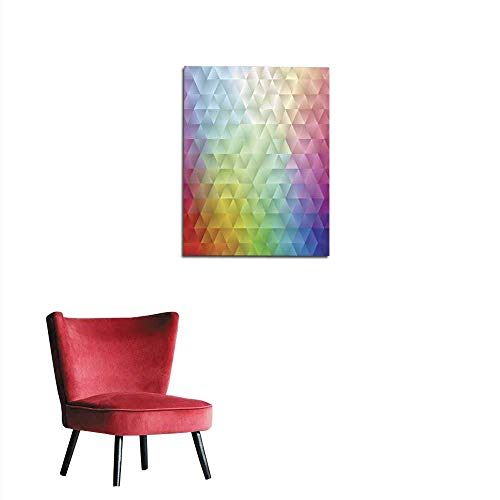 (longbuyer Photo Wall Paper Abstract Spectrum Triangle II Mural 20