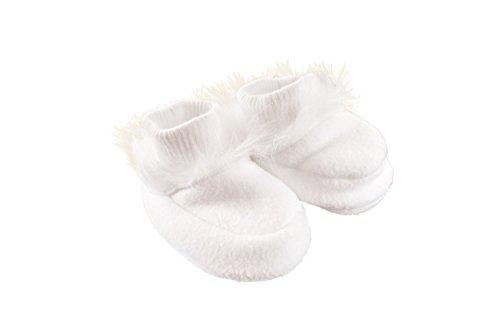 MGT-Shop Jungen Mädchen Taufschuhe Baby Schuhe Sandalen Fleece Taufe Hochzeit MT-1 weiß